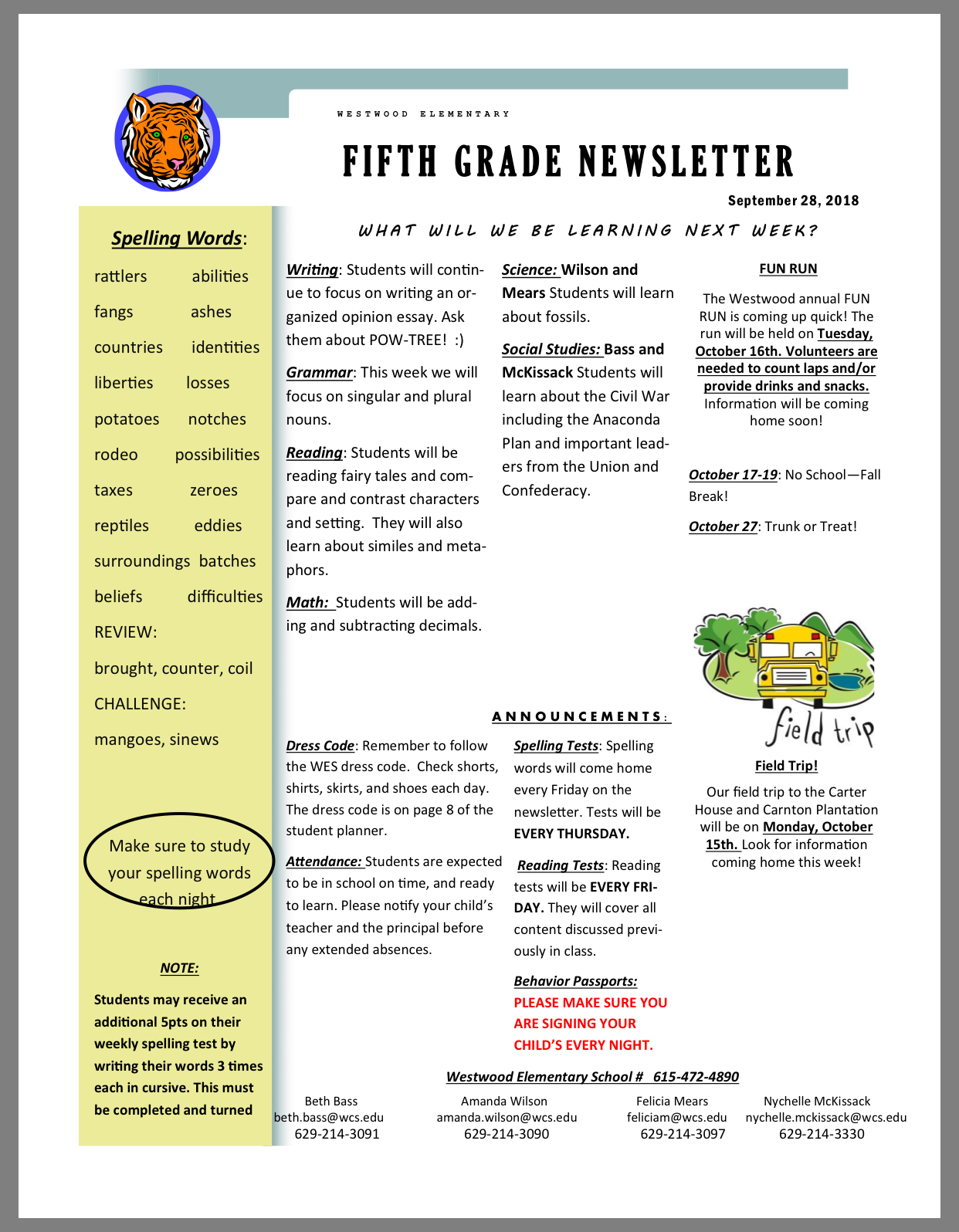 5th oct 1 newsletter paper copy available in office