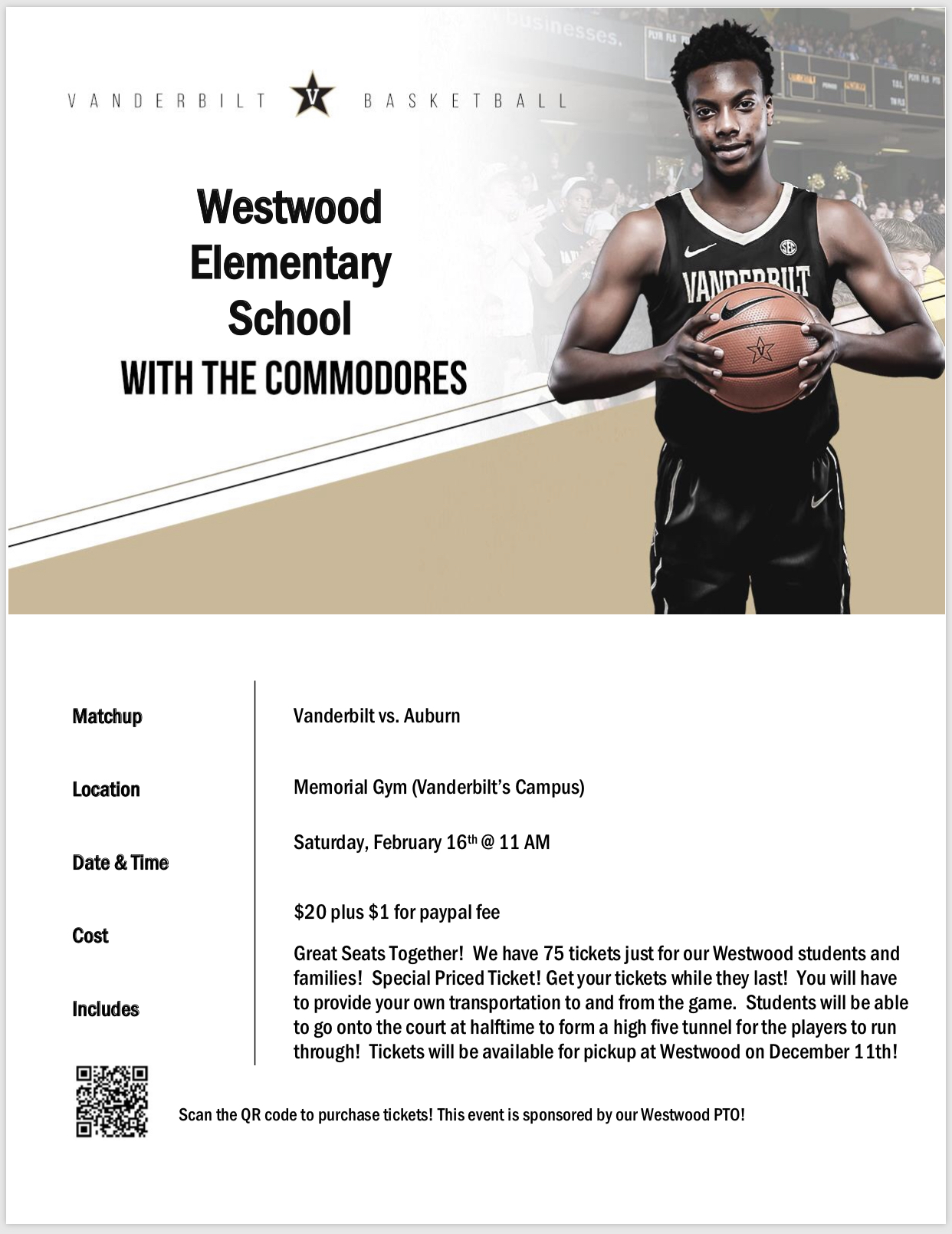 Westwood Elementary School with the Commodores: Paper copy available in office
