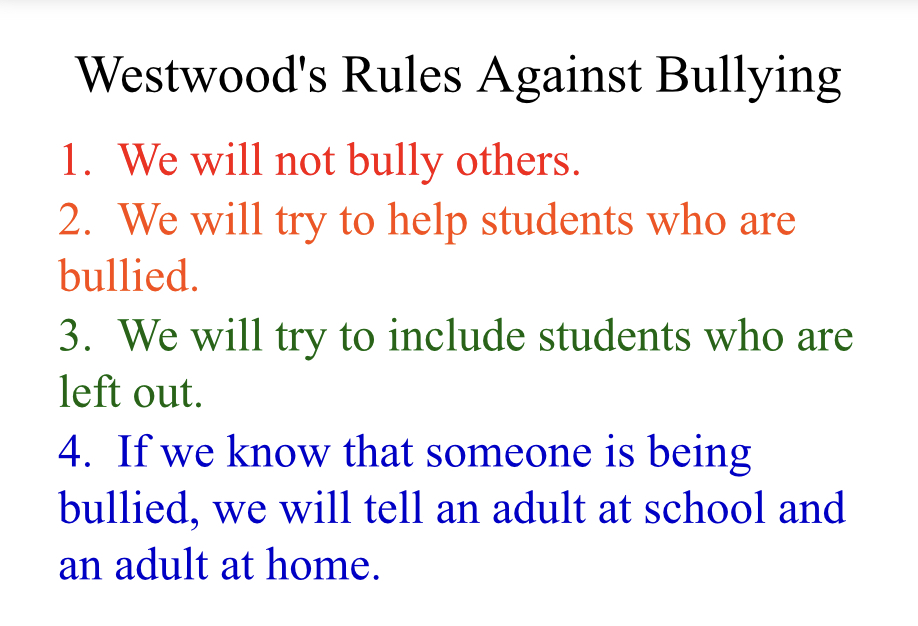 Westwood Bully Rules image