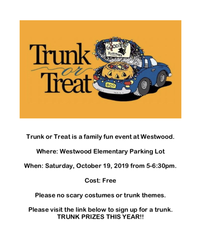 Trunk or Treat Flyer: paper copy available in office