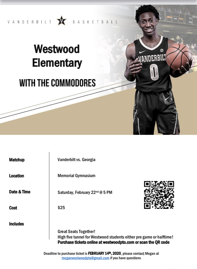 Vanderbilt basketball game flyer: paper copy available in office
